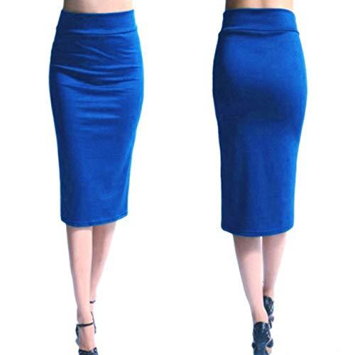 Aututer 2020 Nuevas Faldas de Las señoras Mini Faldas de Las señoras de la Oficina Ajustadas hasta la Rodilla Cintura Alta Estiramiento Sexy Falda lápiz Faldas