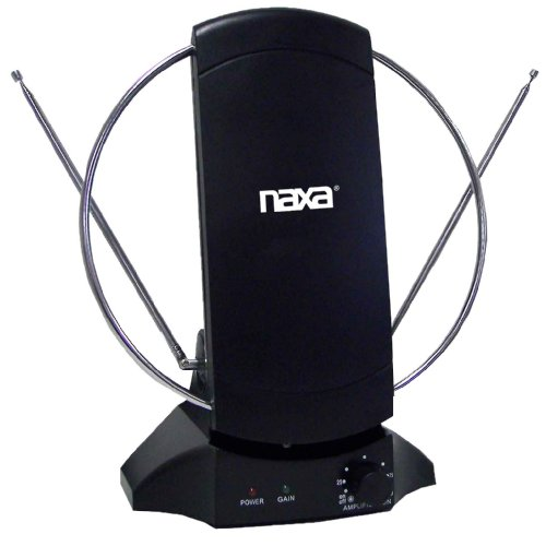 NAXA Electronics NAA-308 High Powered Amplified Antenna Suitable for HDTV and ATSC Digital Television