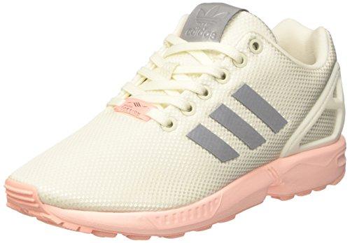 adidas Damen ZX Flux Trainer Low, Weiß (FTWR White/metallic Silver-SLD/Haze Coral), 36 2/3 EU