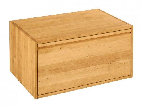 BioKinder 22287 Laura Schrankelement Kleiderschrank Schrank mit Schublade aus Massivholz Erle 40 x 80 x 55 cm