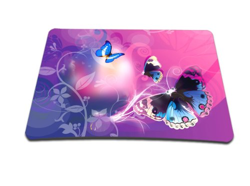 Luxburg - Tappetino per mouse, motivo: farfalle in luce rosa