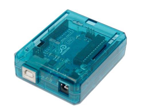 SB Uno R3 Case Enclosure New Transparent (Blue) Computer Box Compatible with Arduino UNO R3