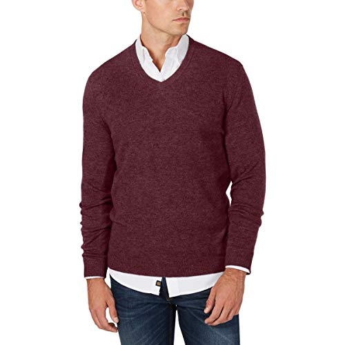 Red Cashmere Sweater Men's
