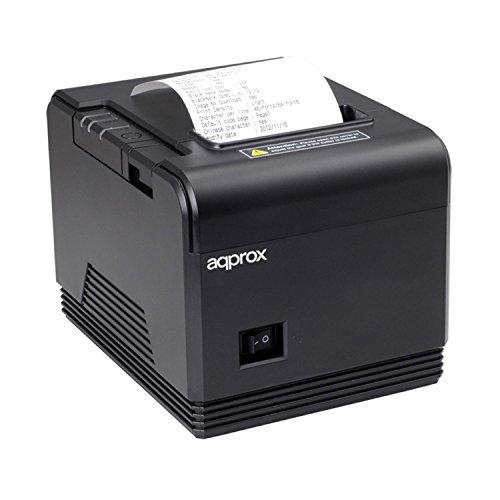 Approx APPPOS80AM – Stampante termica di Tickets, 200 mm/s, carta 80 mm, taglio automatico e manuale, nero