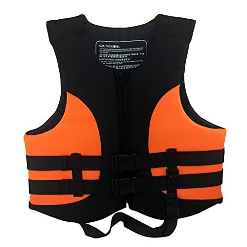 Lgan Chaleco Salvavidas para Adultos, Chaleco De Natación para Niños, Chaleco Flotador Unisexo, para Kayak,Pesca,Surf,Buceo,Deporte Acuático (Size : Orange M)