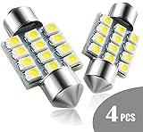 Marsauto DE3175 31mm LED Interior Dome Light Map Bulb Door Courtesy for Car 1.22inch DE3021 DE3022 Festoon Bulbs Pack of 4