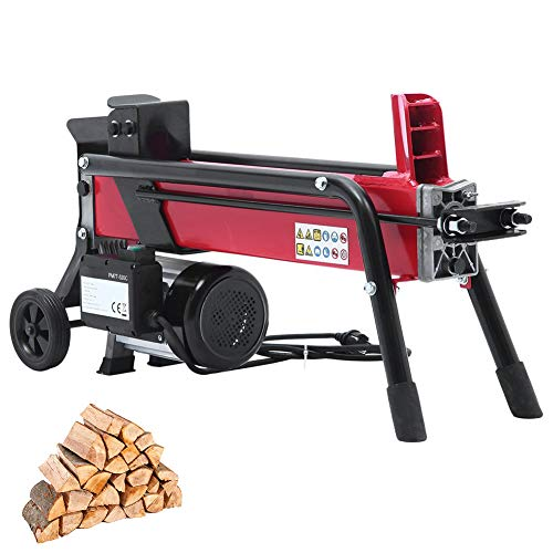 Holzspalter / 7 Tonnen Spaltkraft / 52 cm Spaltlänge / 230V 1500W Elektromotor / 2 Hand Bedienung/kompakter Hydraulikspalter