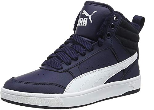 Puma Unisex-Erwachsene Rebound Street V2 FUR Hohe Sneaker, Blau (Peacoat White 06), 43 EU