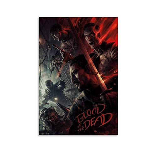 Call of Duty Black Ops 4 Blood of The Dead Zombies Art Poster Decorative Painting Canvas Wall Art Living Room Posters Bedroom Painting 08x12inch(20x30cm)