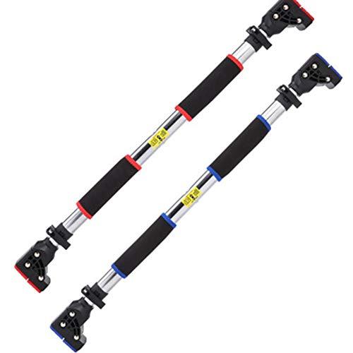 Deur Frame Pull Up Bar, breedte verstelbaar, No aangebrachte schroeven, Wall Bar Locking, geschikt voor thuis Fitness en Bewegen,Red,L