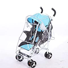 Easy to use:Stroller Rain Cover installs in seconds, Just Unfold the Cover and Place Over your Stroller Universal Size:Rain Cover Fits Almost All Standard Strollers Premium ventilation:There are air holes on both sides of the rain cover, will provide...