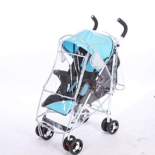 DecentGadget Baby Stroller Rain Cover Universal Size,Travel Weather Shield Protection from Rain Wind Snow Dust Insects