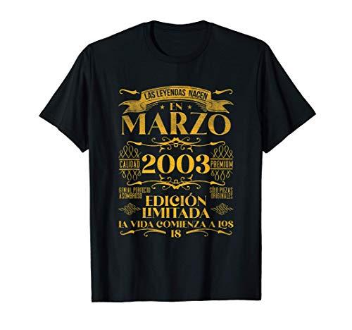 Las Leyendas nacen en Marzo de 2003 - 18 años Cumpleaños Camiseta