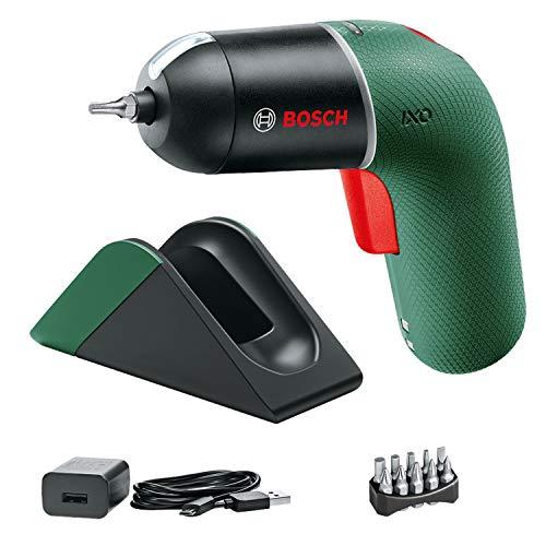 Bosch Avvitatore elettrico IXO Set con stazione di ricarica (6a generazione, verde, VELOCITÀ variabile, stazione di ricarica e