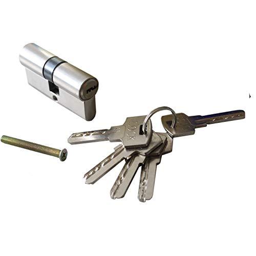 1 teilig 60 mm Sicherheitsschloss Profilzylinder Zylinderschloss Türschloss + 5 Schlüssel