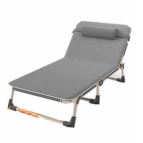 Zero Gravity Stühle im Freien Garten Innenhof Sunloungers Klappliegestühle Lounger Klappstühle mit Kopfstütze (Color : Comfortable Mattress)