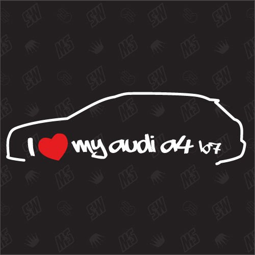 speedwerk-motorwear I Love My A4 B7 Avant - Sticker Bj.05-07, kompatibel mit Audi
