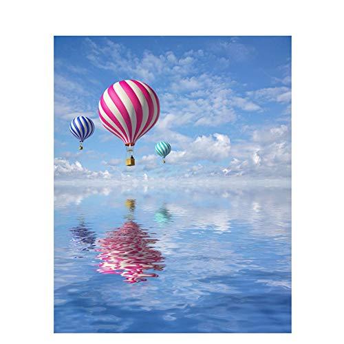 Vanzelu DIY Digital Painting By Numbers Pakket Zee ballon olie schilderij muurschildering Kits Kleurplaten Muur Kunst Foto Gift 40x50cm(16 * 20