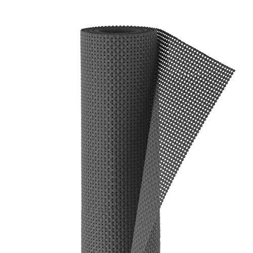 Hoberg Polyrattan Sicht- und Windschutz | Blickdicht, Individuell anpassbar, Leichte Reinigung | Inkl. 50 Kabelbindern | 90 x 500 cm, 650 g/m² [Anthrazit]