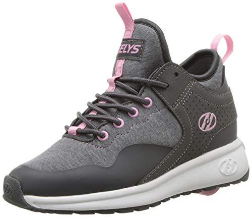 Heelys Mädchen Piper Sneaker, Grau (Charcoal/Light Pink Charcoal/Light Pink), 35 EU