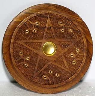 Sage Cauldron Wooden Pentagram Incense Burner