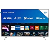 Smart TV Philips 50' 50PUG6654/78 4K UHD HDR10+ Dolby Vision Dolby Atmos Bluetooth WiFi 3 HDMI 2 USB - Prata Bordas ultrafinas
