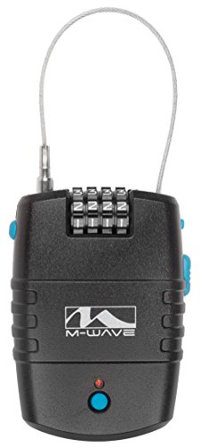 M-Wave 170801.0 Candado Retráctil, Unisex Adulto, Negro, 600 mm / 2 mm