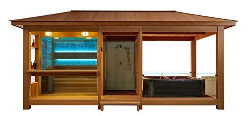 EO-SPA Sauna LT06 rote Zeder 650x350 9kW Vitra