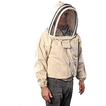 FOREST BEEKEEPING SUPPLY YKK Brass Zippers Cotton Fencing Hood Jacket for Beekeeper, Medium