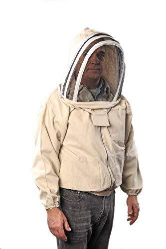 Forest Beekeeping Supply YKK Brass Zippers Cotton Fencing Hood Jacket