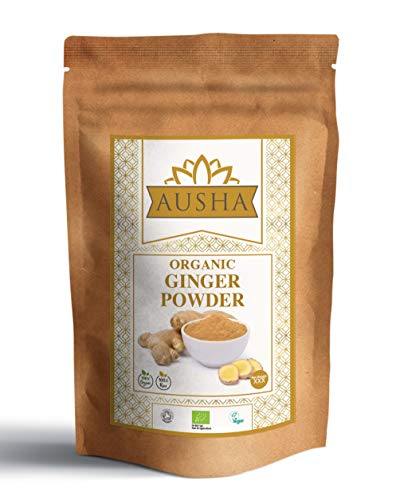 Organic Ginger Powder 250g AUSHA - Premium Quality(Anti Inflammatory,Immunity, Anti Viral,Digestion Aid)