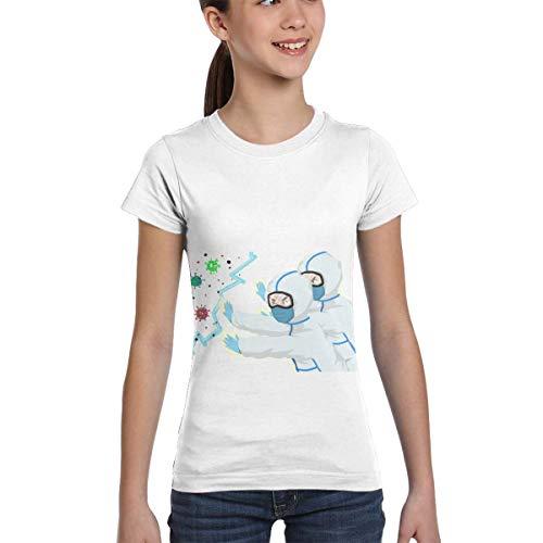 wenchongmaoyi Coro-navi-rus Colored Print Kids Round Neck Shirt Girls T Shirts Teen T Shirts Girl Size 6