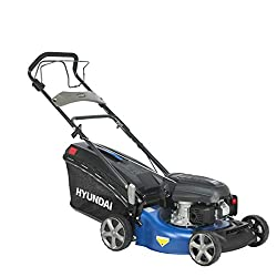 HYUNDAI Benzin-Rasenmäher, Benzinmäher mit Radantrieb/Selbst-Antrieb, Mulcher/Mäher mit Mulchfunktion, 46cm Schnittbreite und 3.9 PS Hyundai Motor(LM4602G ohne E-Start)