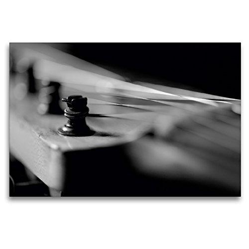 CALVENDO Premium Textil-Leinwand 120 x 80 cm Quer-Format Kopfplatte mit Stimmmechanik Einer E-Gitarre, Leinwanddruck von Lars Tuchel
