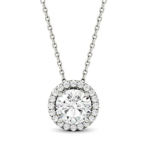 Moissanite Halo Pendant