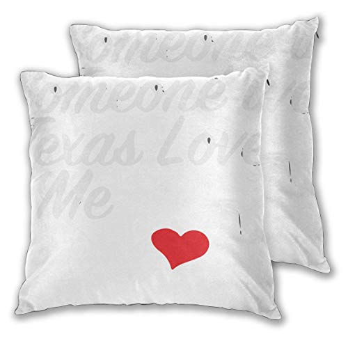 JONINOT 2 PCS 18'x18' Someone Love Me Throw Pillow Cushion Case,Inserts are Not Included
