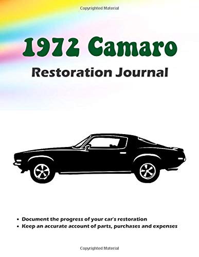 1972 Camaro Restoration Journal - 2 Section Project Notebook: Section 1 is for noting the details of the restoration. Section 2 is for logging-in ... item for your Camaro restoration project!