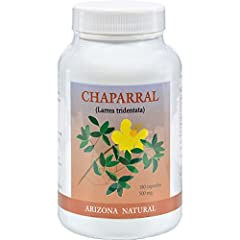 Each capsule contains 500 mg powdered Chaparral leaf Used in Native American remedies for centuries No added sodium, yeast, preservatives, artificial colors or flavors