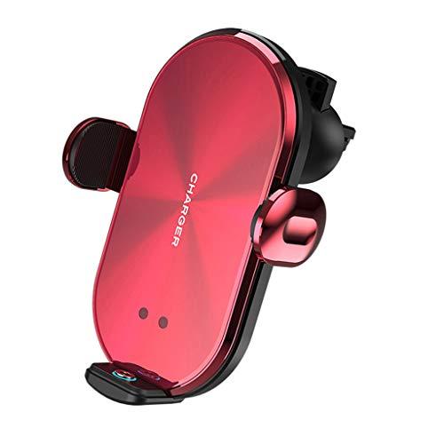 不适用 Soporte de montaje para teléfono de coche Auto Sujeción 10 W Cargador inalámbrico de coche Ventilación de aire Soporte de teléfono Holer teléfono móvil Cuna imán Plug