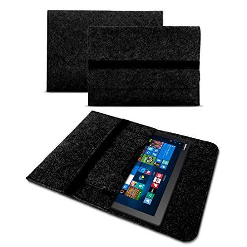 UC-Express Tasche Hülle für Lenovo Ideapad Miix 320 310 300 Filz Hülle Sleeve Cover Bag Schutzhülle, Farben:Dunkles Grau