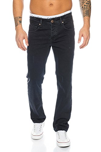 Rock Creek Herren Jeans Schwarz RC-2099 [W29 L30]