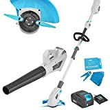 40V 10-in Cordless Weed Eaters Grass Trimmers and Cordless Leaf Blower Twin Pack Sweeper Combo with 2AH Battery and Charger