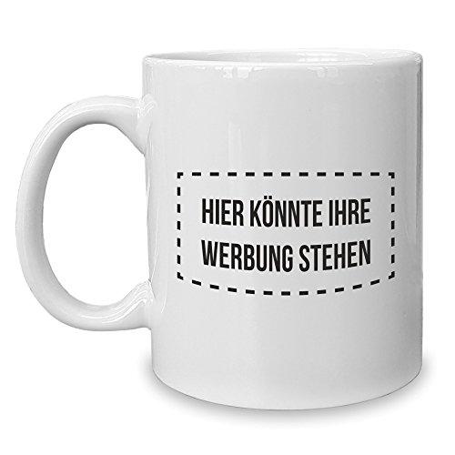Shirt Department - Kaffeebecher - Tasse - Hier könnte Ihre Werbung Stehen Weiss-schwarz