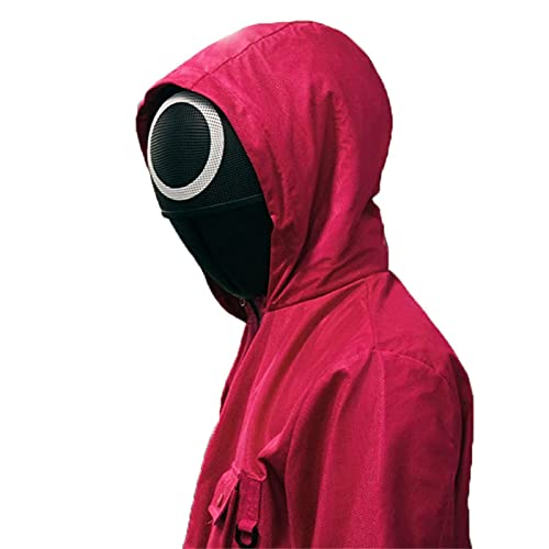 XTONG Squid Game Soldier Helmet, TV Masked Man Helmet, Halloween Cosplay Scary Accessories Props,Squid Game Cos Pretends to Play The Korean TV Series Halloween