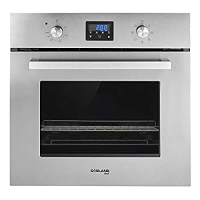 "GASLAND Chef 24"" 2.3Cu.f Multi-functional Built-in Stainless Steel Electric Single Wall Oven, 24-Inch 240V 2800W 9 Cooking Function Electric Oven with Mechanical Knobs Control and Digital Display"