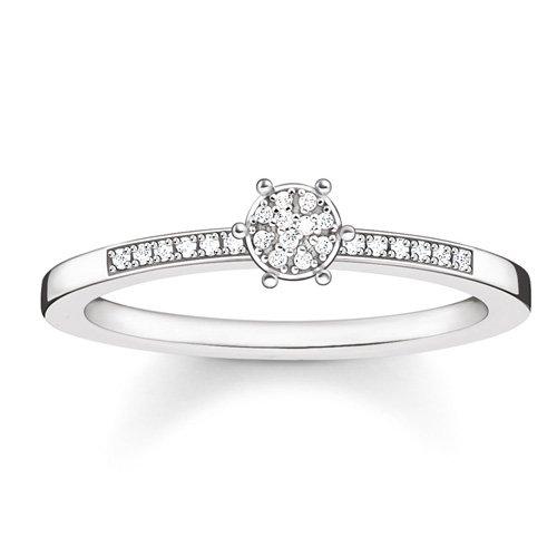 Thomas Sabo Glam & Soul D_TR0022-725-14-56 - Anillo de plata 925 con diamante (0,05 ct), color blanco