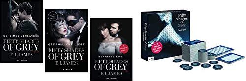 NN. Fifty Shades of Grey Trilogie Band 1-3 mit Partyspiel 1. Geheimes Verlangen & 2. Gefährliche Liebe & 3. Befreite Lust & 4. Partyspiel Fifty Shades of Grey