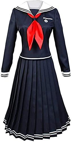 Disfraz de marinero japons para escuela, uniforme de anime, disfraz de cosplay Toko Fukawa, disfraz de cosplay para cosplay de la escuela secundaria, falda de uniforme