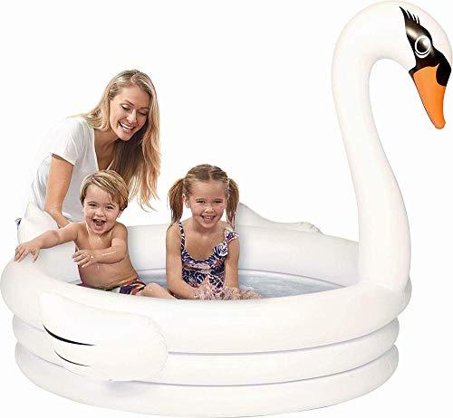 HEROTIGH Inflatable Pool Baby Gepolsterte Kinder Planschbecken Aus Weichem Kunststoff Wanne Persönlichkeit rutschfeste Falten 150 * 110Cm Weißer Schwan Inflatable Bathtub