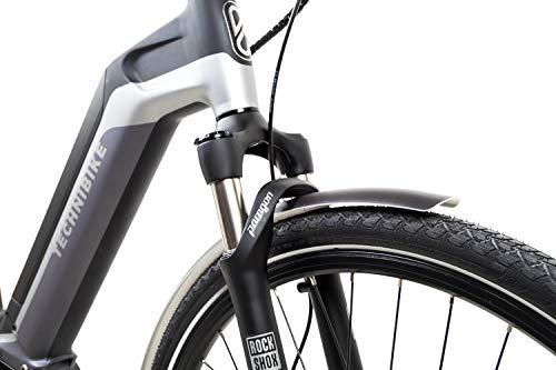 412Iv1lZcoL - 28 Zoll Fahrrad TechniBike E-Bike Pedelec Riemen N330 Nabenschaltung Conti Akku 70Nm Grau Grün Gr.L